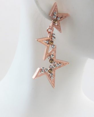 DAZZLING STARS DROP EARRING - ROSE GOLD