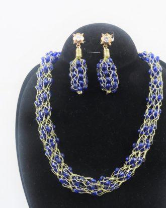 Purple -Gold Handmade Jewelry