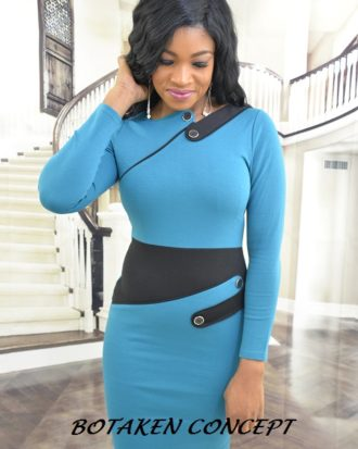 Elite Carmine Dress, Teal