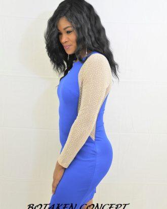 Short Formal Evening Gown, Blue
