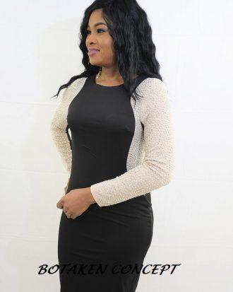 Short Formal Evening Gown, Black