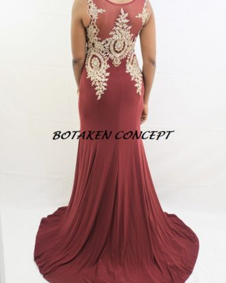 Premiere Designer Evening Dress, Created with Ostentious Fabric And Details, Floor Length