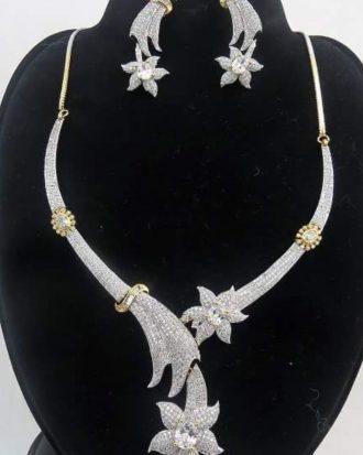 Micro Paved American Diamonds Set