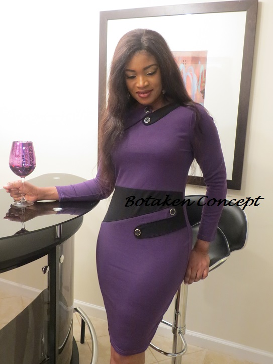 Elite  Carmine Dress, Purple