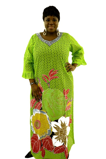 ATTENTION SEEKER RHINESTONE KAFTAN, GREEN.