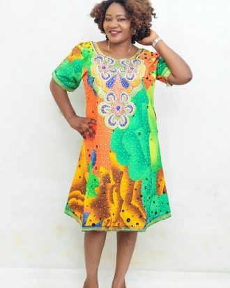 TOUCH OF ELEGANCE BEAUTIFUL COMPLIMENTS RHINESTONES KAFTAN, FITS SIZES 10-12