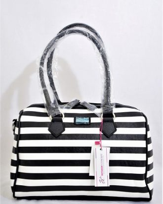 Stripped LIllian Treasures Handbag, Black