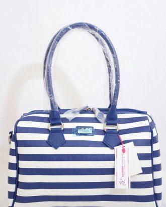 Stripped LIllian Treasures Handbag, Navy
