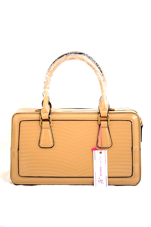 LAY DOWN THE RULES PATENT FRAME BAG, NUDE