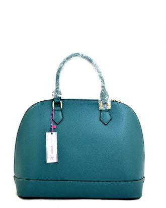 LILLIAN TREASURES TOTE HANDBAG, TEAL