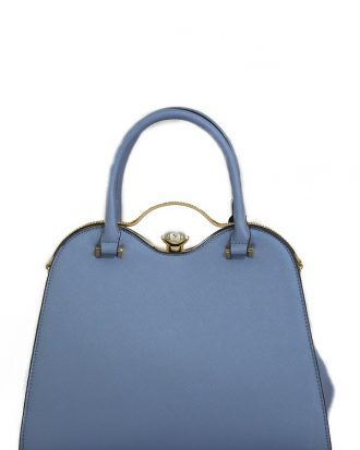 Diamond Lock Leilani Handbag, Dark Blue