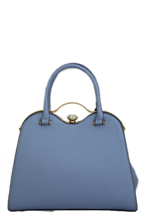 Diamond Lock Leilani Handbag, Dark Blue