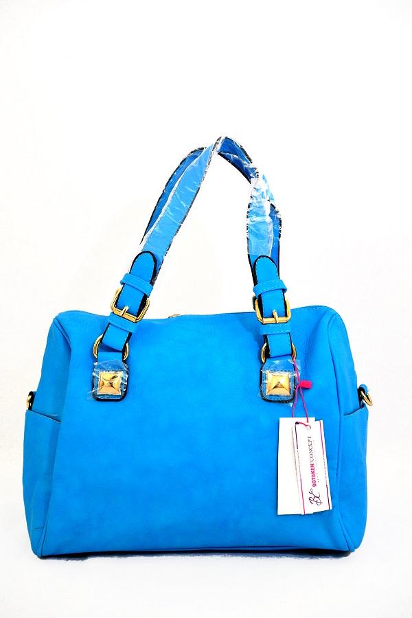 Lillian  Treasures Tote Handbag, Blue