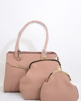LAY DOWN THE RULES 3 IN 1 HANDBAG SET, BLUSH