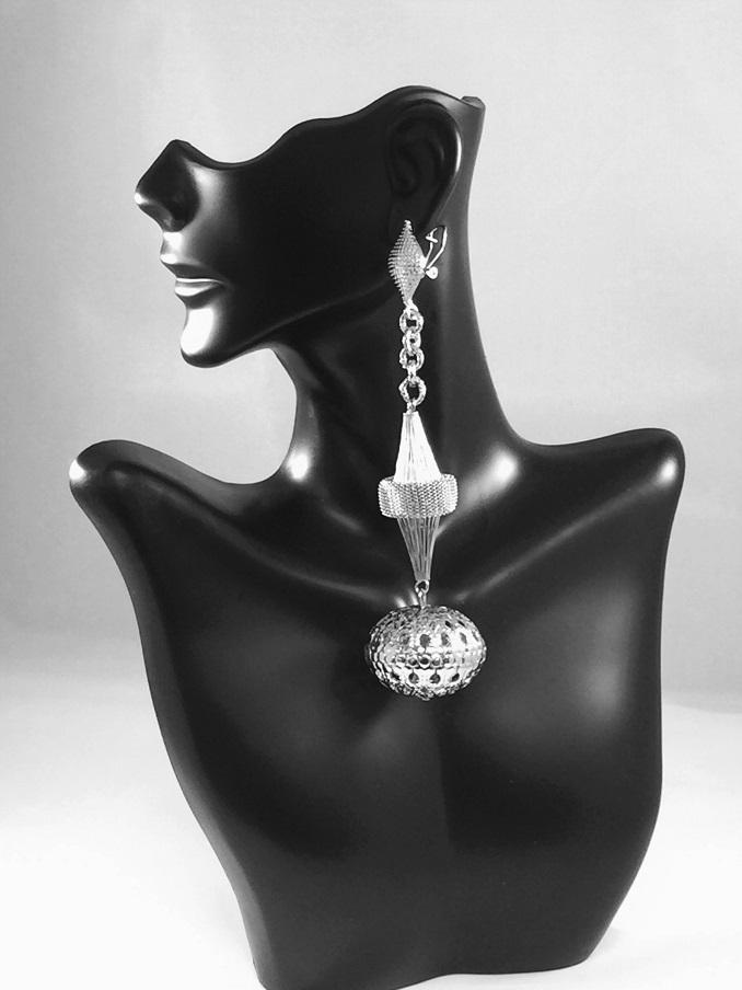 Peaceful Passings Silver Earring.