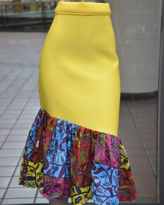 Yellow Bodycon Skirt