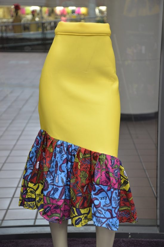 Yellow Bodycon Skirt
